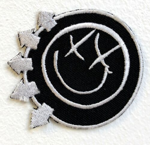 Blink 182 Rock Band Logo red Iron Sew on Embroidered Patch #960
