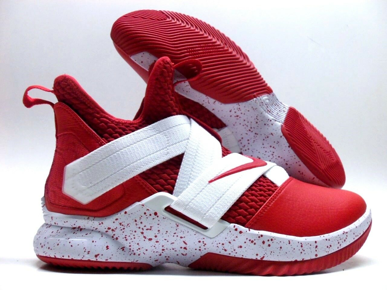 NIKE LEBRON SOLDIER XII 12 ID SPORT RED WHITE SIZE MEN'S 9 [AR6333-991]
