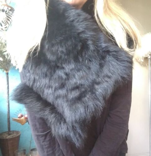 Shawl Shearling amp; Wrap Collar Sass Lamb Fur Will