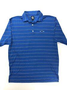 FootJoy-Men-s-Golf-Polo-Shirt-Blue-Striped-XL