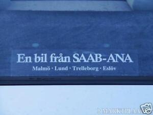 Saab sticker - Swedish dealer - reproduction