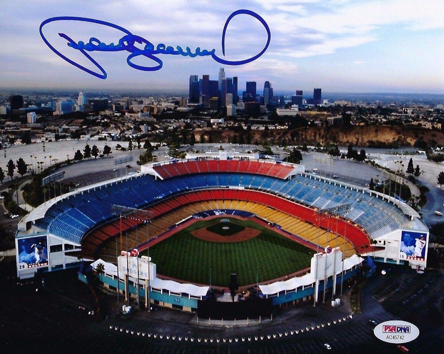 Pedro Guerrero Signed Los Angeles Dodgers Stadium 8x10 Photo PSA AC45742