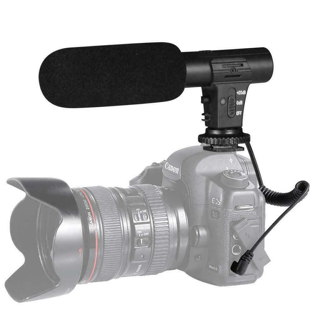 3.5mm Video Camera Microphone Vlog Recording Photography Portable Digital Stereo