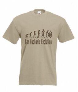 2fcfe7d45 Evolution To Car Mechanic t-shirt Funny Auto Mechanic T-shirt sizes ...