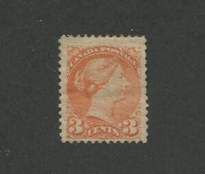 Queen Victoria 1873 Canada 3c Orange Stamp #37 Scott Value