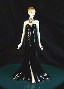 Royal Worcester Figurine Black Gown 1st Quality Excellent Condition Limited Ed - Devon, United Kingdom - Returns accepted within 14 calendar days from the date that the item was received. Most purchases from business sellers are protected by the Consumer Contract Regulations 2013 which give you the right to cancel the purchase within  - Devon, United Kingdom
