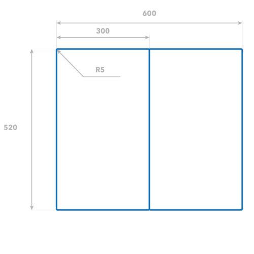 Glas-Herdabdeckplatte Ceranfeldabdeckung Zweiteilig 2x30x52 Orchidee auf Holz