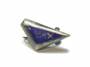 A Must See Firm In Structure Patina! Modest Vintage Ladies Sterling Silver Sorority Pin/brooch