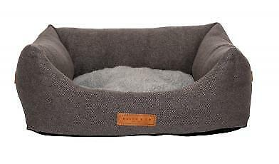 Ralph & Co Stonewashed Fabric Nest Bed Windsor Grey Xsmall 50x40x20cm