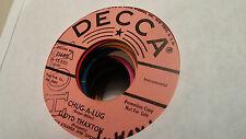 Lloyd Thaxton 45 Chug-A-Lug/The Tennessee Ska Decca Promo 31689 Sax Surf Rocker