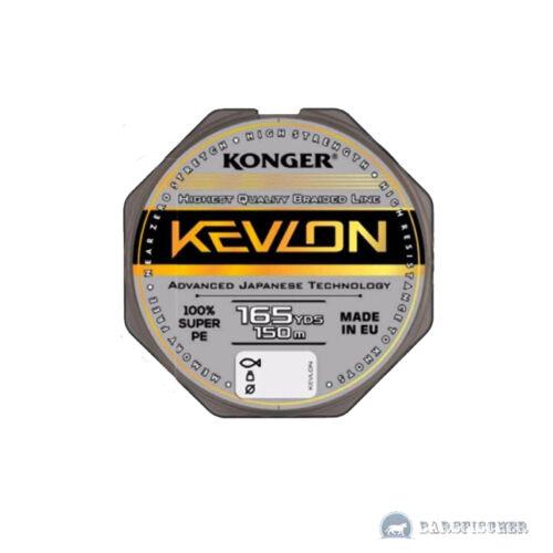 0,06 €//M 150m Kong Kevlon x4 Black Braided Cord Fishing Line 0,06-0,20mm