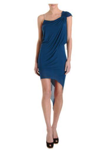 400 Neuf avec étiquettes Helmut Lang stbague Robe en Jersey Turquoise Taille L magnifique