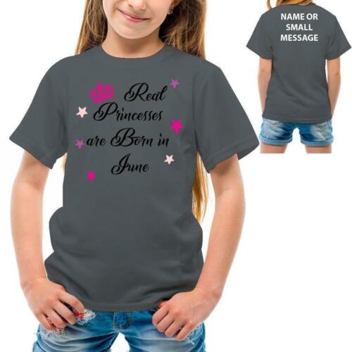 Real Princesses are born in June Girl birthday Party T-shirt Tee top