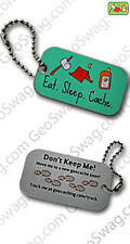 Eat Sleep Cache Travel Tag (Travel Bug) For Geocaching
