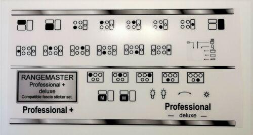 Deluxe Pannello Anteriore Compatibile Fascia adesivi. Rangemaster Professional