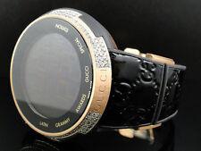 New Mens I Gucci Digital XXL Latin Grammy Rose Gold Diamond Watch 3 Ct YA114102