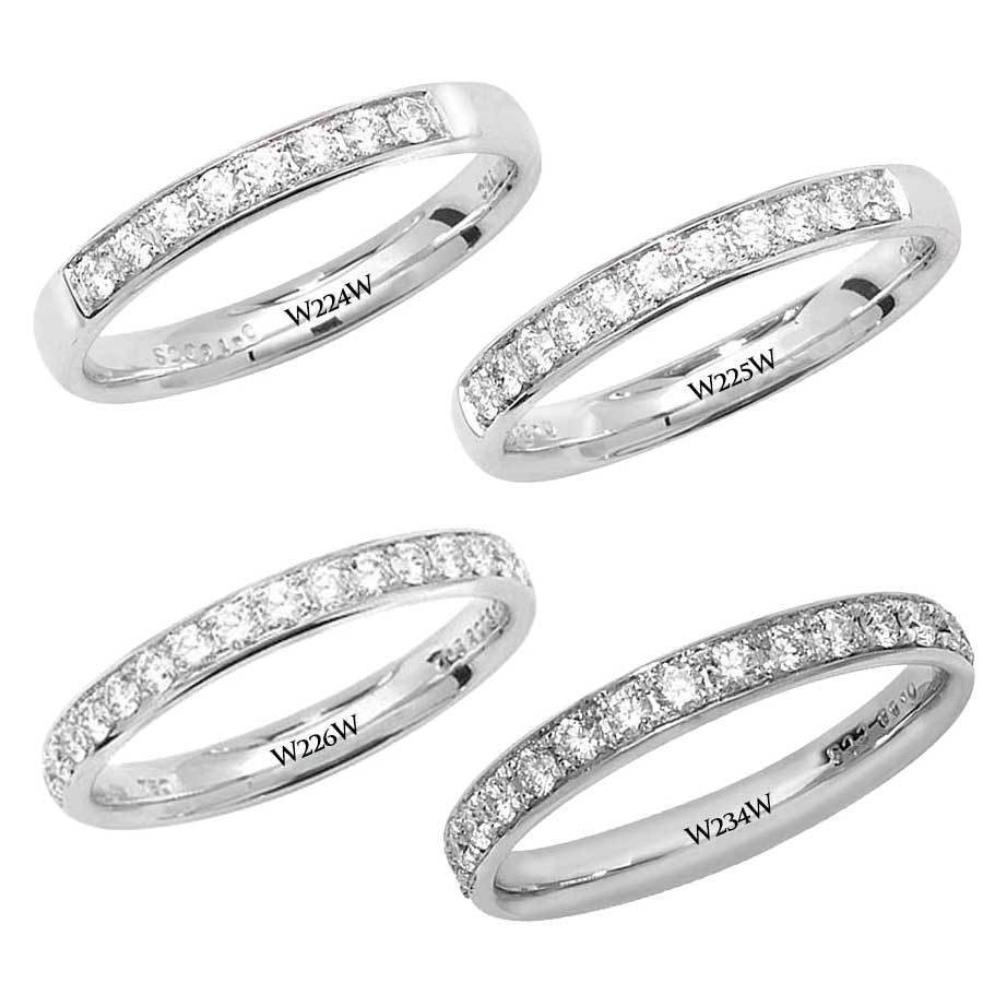 Diamond Eternity Wedding Ring 9ct White gold