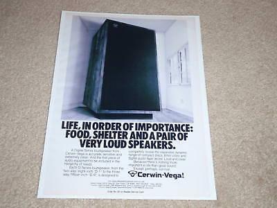Cerwin Vega 15t Speaker Ad 1974 Article Color RARE!