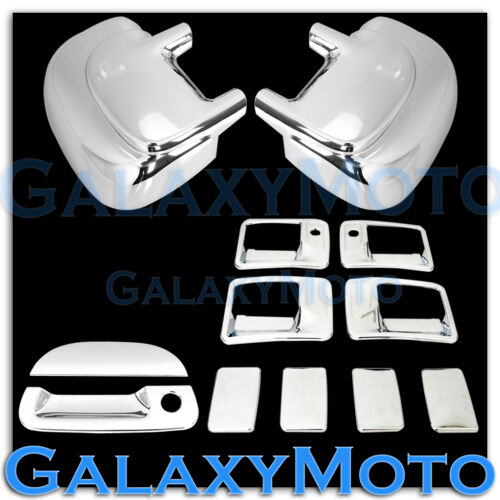99-07 Ford Super Duty Chrome Mirror+4 Door Handle w// PSG Keyhole+Tailgate Cover