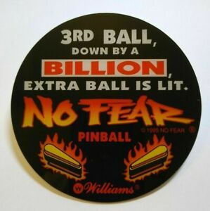 Williams No Fear Pinball machine Promo Original NOS Plastic speaker cut out