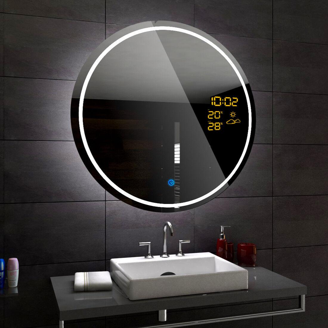 LONDON Miroir Salle De Bain Lumineux LED   Interrupteur Accessoires Miroir ROND