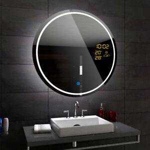 Détails sur LONDON Miroir Salle De Bain Lumineux LED | Interrupteur  Accessoires Miroir ROND