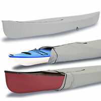 Eliteshield Canoe Kayak All Weather Boat Cover Fits Up To 12'l Grey