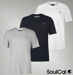Mens-SoulCal-Short-Sleeves-Crew-Neck-Top-Signature-T-Shirt-Sizes-from-S-to-XXXL
