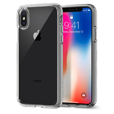 Spigen® Apple iPhone X [Ultra Hybrid] Clear Hybrid Bumper Shockproof Case Cover