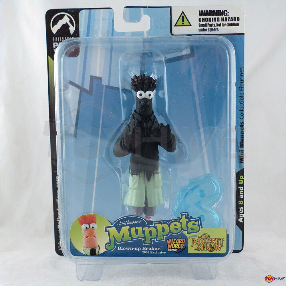 Muppets mini Blown-up Beaker collectible figure w  Weiß box by Palisades Toys