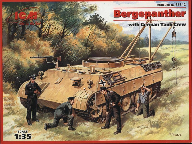 ICM 35342 Bergepanther with German Tank Crew 1 35 Plastic model kit 205 mm