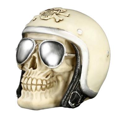 Iron cross Casque Biker motard lunette de moto Porte clé crane tete de mort