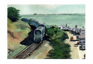 Emma Wood Ventura  :  Signed LE Art Print : Sandra Watercolors™ California