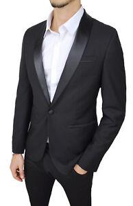 giacca uomo nero lucido
