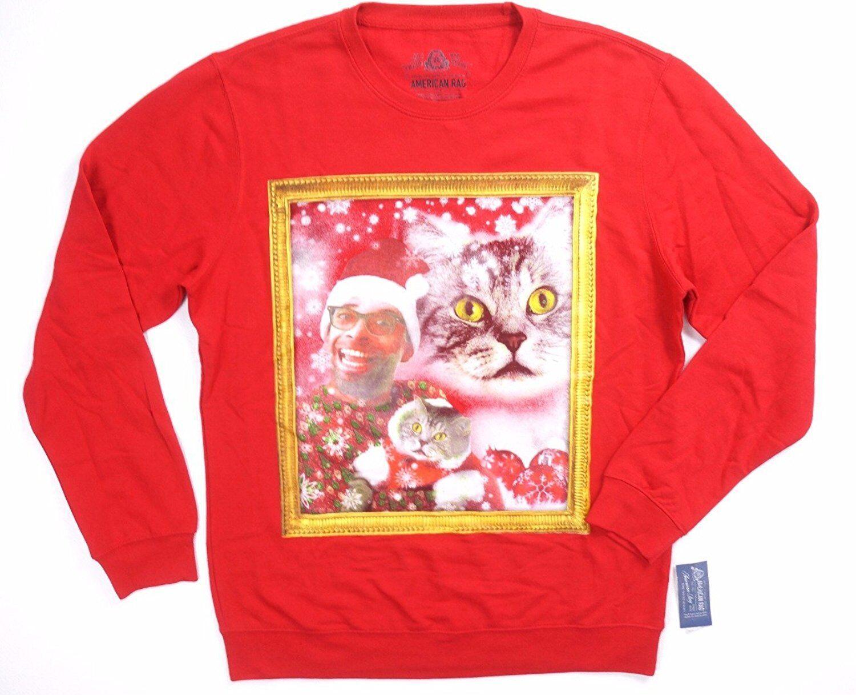 56fd5e44 American Rag Mens Sleeve Crew Sweatshirt Red S Long Graphic  nnpzsc4423-Hoodies & Sweatshirts