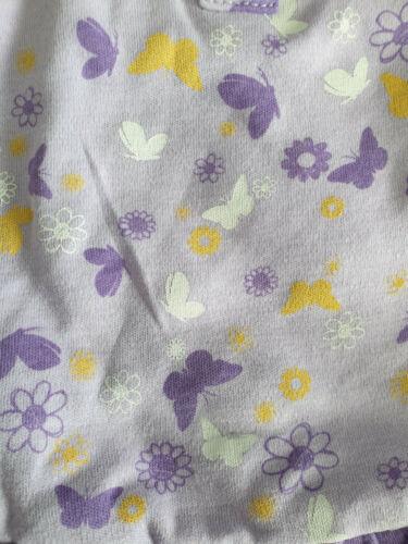 BNWT Baby Girls 0000 Cute Little Wonders Brand Lavender Floral Short Romper Suit