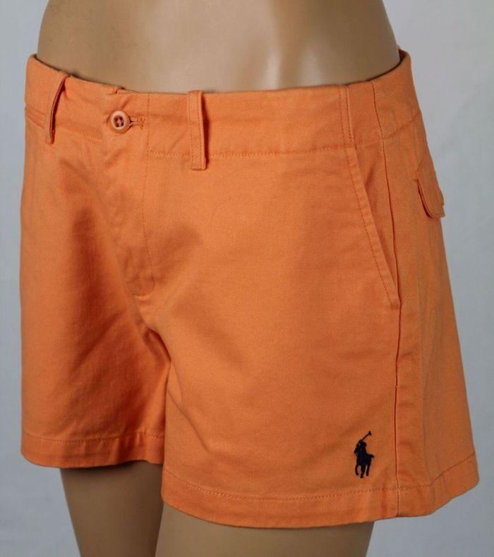 Ralph Lauren Sport orange Navy bluee Pony Shorts NWT 14