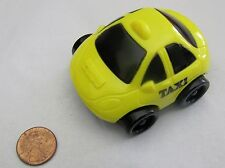 New! Fisher Price YELLOW TAXI CAB CAR Vehicle Happy Meal Toy McDonald's Cute!