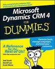 Microsoft Dynamics CRM 4 For Dummies by David Lee, Scott Weiss, Joel Scott (Paperback, 2008)