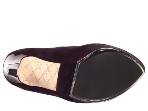 L.A.M.B Gwen Stefani Dolores Plum Suede pumps slip on heels platform NEW LAMB