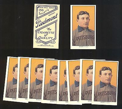 Aspiring Honus Wagner Reprint T-206 1909 Piedmont Mint To Produce An Effect Toward Clear Vision lot Of 100