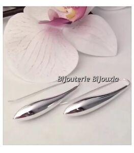 Boucles-D-039-oreilles-goutte-D-039-eau-Argent-Massif-925-1000-Bijoux-Femme-NEUF