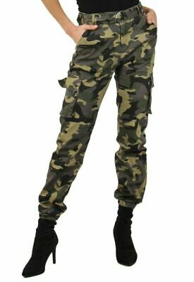 Para Mujer Ejercito Militar Camuflaje Combate Cargo Pantalones Reino Unido 6 14 Passimed Pl