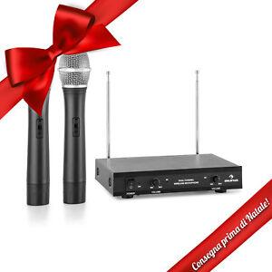 Coppia-Radio-Microfono-Vhf-Canale-Gelato-Senza-Fili-Wireless-50M-Dinamico