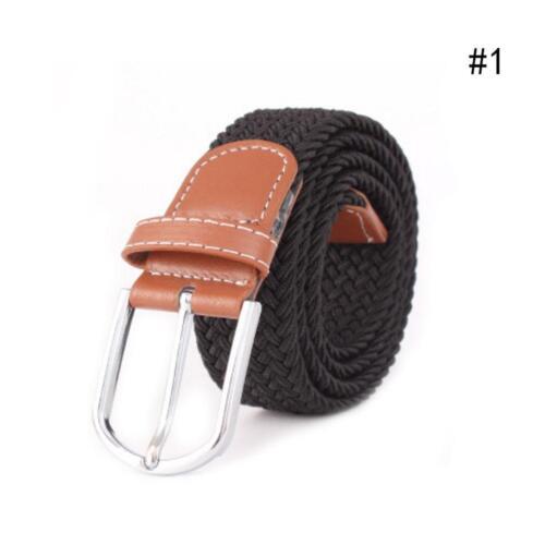 Frauen-beiläufige gestrickte Gurt-gesponnene Segeltuch-elastische Ausdehnun V1V0