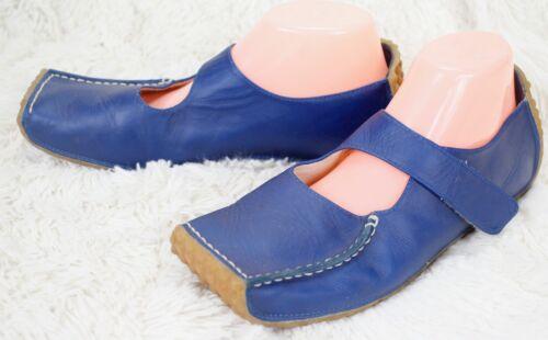 donna Marley Toe chiuso Janes in blu pelle 10 Mary Bob Square Comfort Flats TwxqUUPda