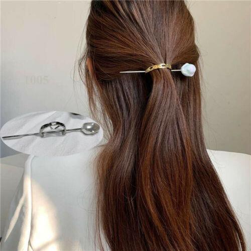 Vintage Women/'s Alloy Pearl Hairpin Hair Sticks Headdress Hair Clip Accessories