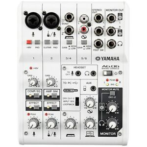 Details about Yamaha AG06 Multipurpose 6-Channel Mixer with USB Audio  Interface