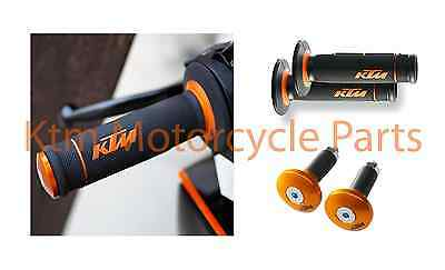 KTM OPEN END DUAL COMPOUND HAND GRIPS WITH BAR ENDS 63002021200 & 54802005000