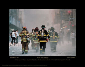 WALK-OF-COURAGE-9-11-FIREFIGHTER-WORLD-TRADE-CENTER-8x10-SILVER-HALIDE-PHOTO